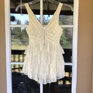 Victoria's Secret White Lace Top